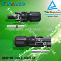 TUV and CE approved copper&sliver plated conductor MC4 connector