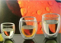 Hot New Products For 2015 Glassware Glass Cup Double Wall Champagne Wine Glass