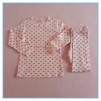 Wholesale OEM Children Gilrs Cotton Underwear Set Long Johns, High Quality Kids Pajamas Clothes for Child