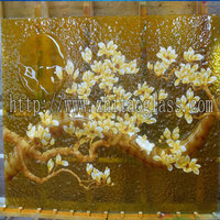 Wholesale Furniture Building Glass Golden Panels