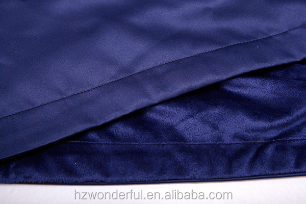 nevy blue shawl collar double layer microfiber robe de soiree