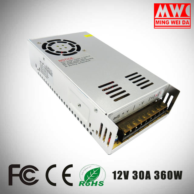 S-360-12 input 110v-220v switching power transformator 12v 30a 360w supply For Factory Direct Sale
