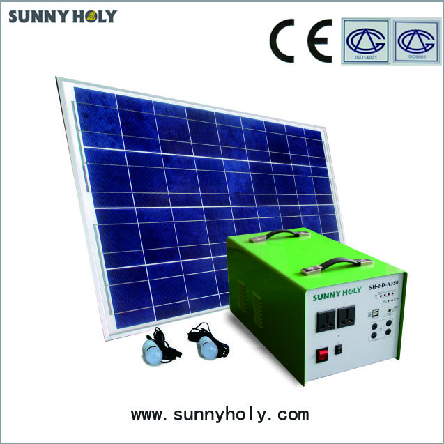 High efficiency solar power system off grid 80w solar panel system for home use