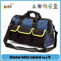 Promotional black tool bag,large capacity tool bags,large capacity tool bags