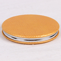 Hot Round PU Leather Support Customized With Double Side Folding For Promotion And Makeup Pocekt Mirror