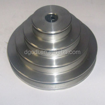 OEM custom made stainless steel round belt step pulley with factory price