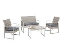 4 Pieces Loveseat Sofas and Chairs/K.D Structure Patio Furniture Sofa Sets/