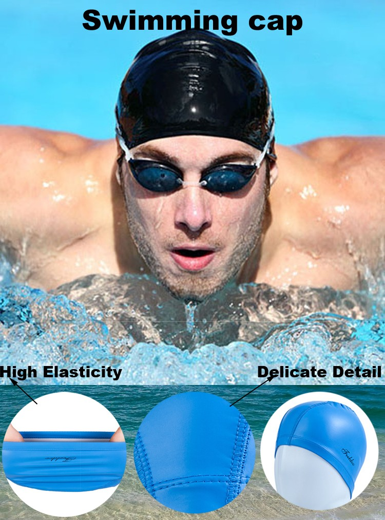 Wholesale cheapest Custom printed Swimming Cap Silicone