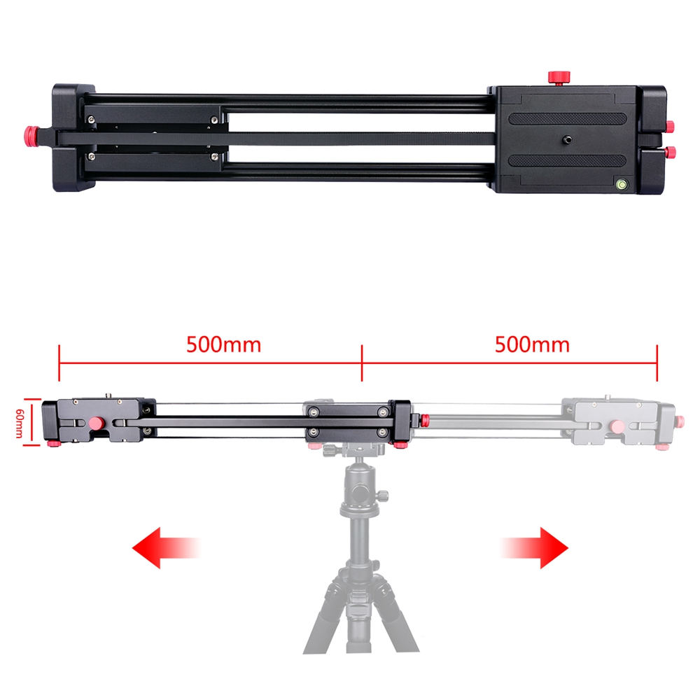 photography aluminum 100cm extended double slide mini dslr video camera metal slider