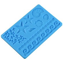 BPA Free Sea Shell Silicone Fondant Mold Silicone Cake Decorating Molds