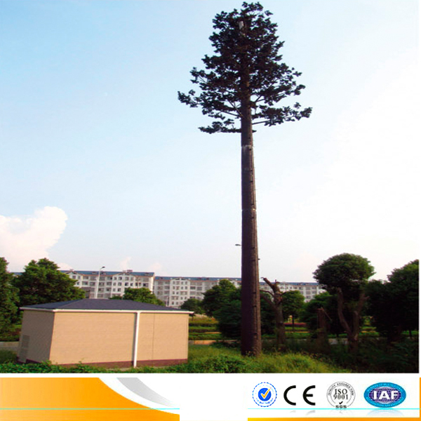 camouflaged steel pine tree commnication tower communication signal mobile wifi mast tower mast.