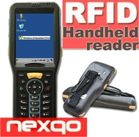 Multi-tags readable UHF 860-960MHz handheld RFID reader with barcode scanner wireless