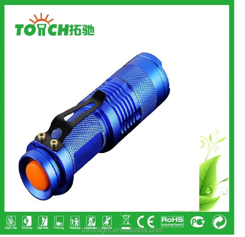 zoomable mini torch flashlight 3 modes waterproof flashlight for outdoor camping use 14500 battery