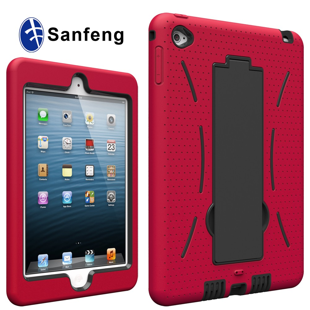 Original Design Shockproof Case For iPadmini 4 Smart Cover Hard Plastic And Silicone Protective Housing For iPad Mini 4