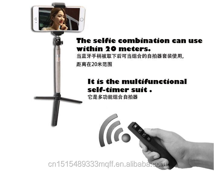 Selfie Stick Bluetooth , Wireless Monopod Selfie Stick 2016
