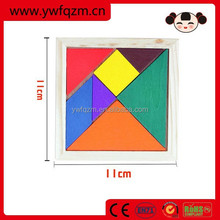 kids educational toys Colored wooden tangram puzzle