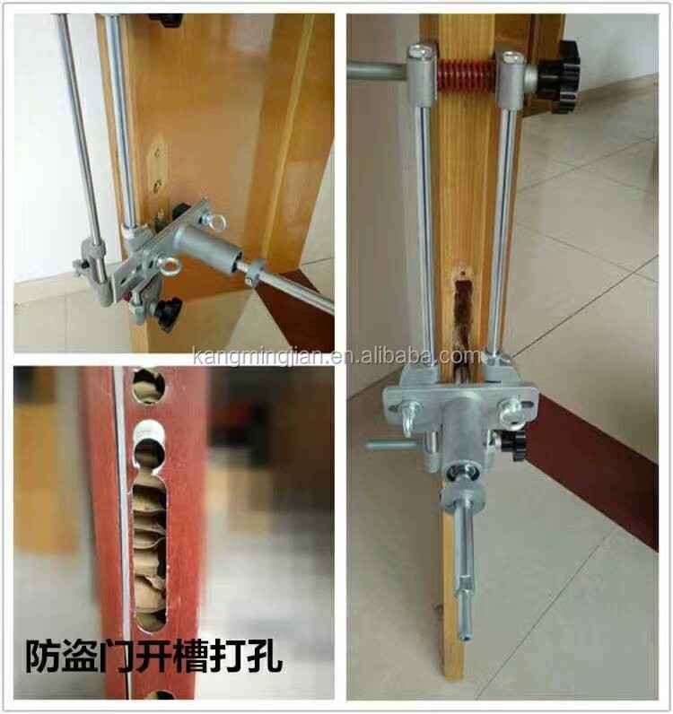 Portable water-slot milling machine/Door lock slotting tool