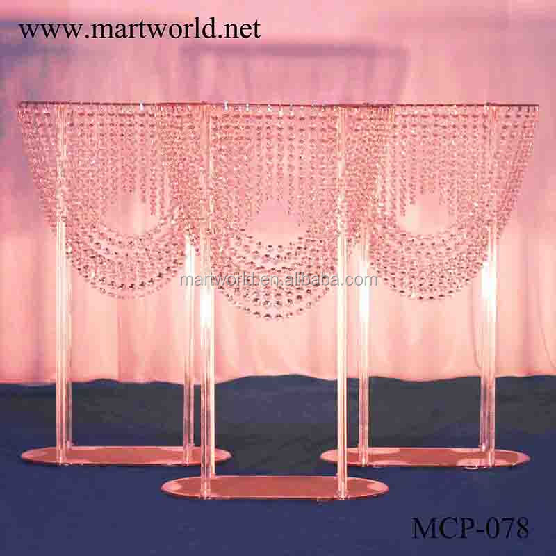 2018 new clear acrylic centerpiece crystal centerpiece party wedding decoration flower stand wedding table centerpiece (MCP-078)
