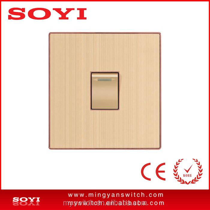 Aluminum material panel 1 gang 1 way wll <strong>switch</strong> applicable to the Pakistan or Bangladesh market