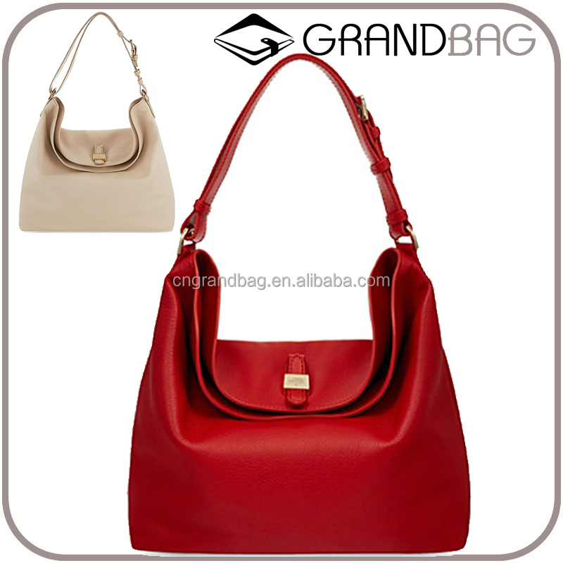 genuine leather hobo bag soft grained leather tote bag clasp closure lady hand bag perfect for ladies daily life