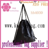 leather black drawstring bags