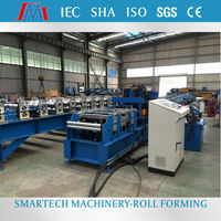High speed C shape beam punching & galvanized sheet strip Z purlin steel cold roll forming machine
