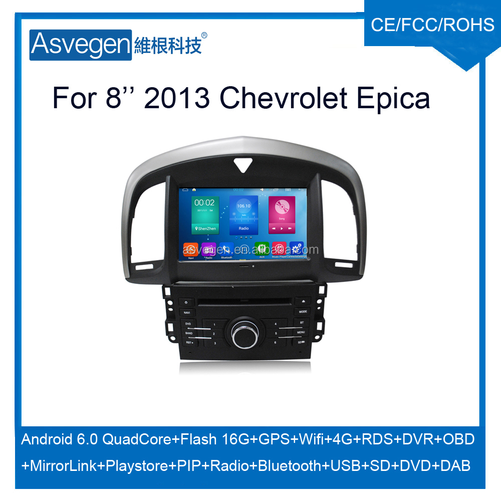 Wholesale Android Car DVD Player For 8'' Chevrolet Epica 2013 Support Radio Wifi Playstore With Auto Spare Parts Car