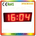 8 inch HH:MM 4 digits led candle with timer