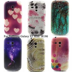 Color pattern Translucent S3mini TPU Rubber Soft back cover case for Samsung Galay S3 S3 4 5 6 7 mini i8190 silicone gel skin