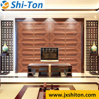 High quality best design many patterns 3d pvc leather wall panel wallpaper sticker