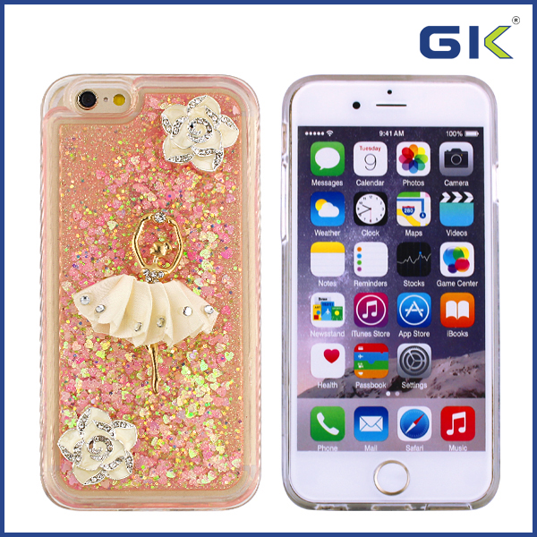 [GGIT] Funky DIY With Diamond Liquid TPU Phone Case For IPhone 6 Back Cover