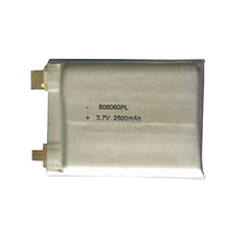 High Capacity 3.7V 806060PL-2800mAh Rechargeable Li-polymer Battery for Medical Device with UL/CE/UN38.3 Certification
