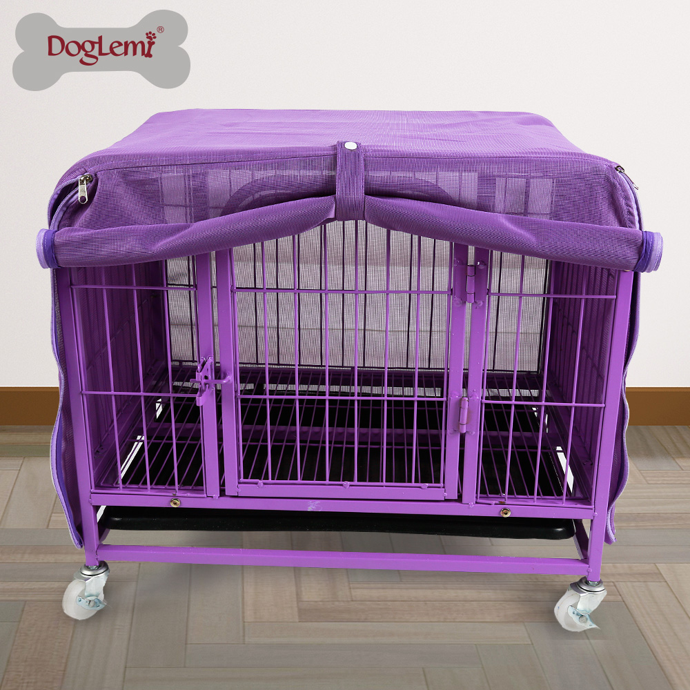 New Breathable Strong Mesh Pet Cage Cover Dog Crate Kennel Covers