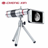 Universal Mobile Phone Lens 12x Zoom Optical Telescope Tripod Holder Camera lens For iphone Samsung Galaxy S5 S4 S3 Note 2 3