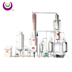Making waste oil to diesel processing used motor oil distillation machine