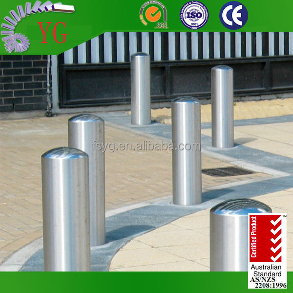 Hotel Car Parking Stainless Steel Bollard with stainless steel led bollard light for sale