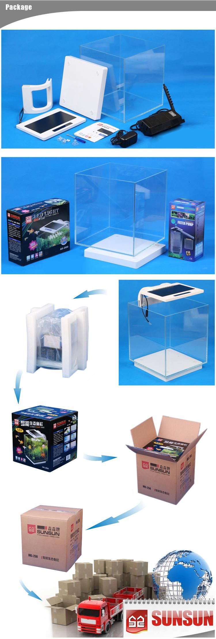 Sunsun g 25 led plastic acrylic aquarium fish tank price for Acrylic fish tanks for sale