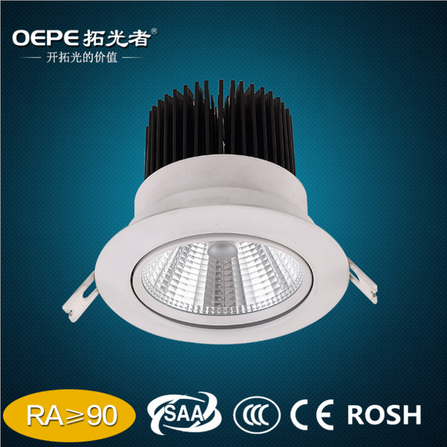 Led Spot Lamp Cut Out 95mm Embedded 10W Cob Led Ceiling Spotlights