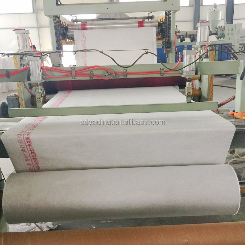 Flexible polyethylene polypropylene fiber composite roofing waterproof membrane material