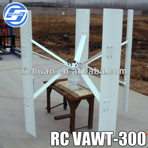 300W Small Dynamo Vertical Axis Wind Turbine for Sale
