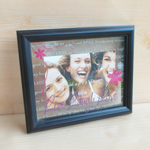 Warm mon and daughter tabletop plastic 4x6 5x7 8x10 PS picture photo frame