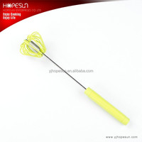 "10"" Green color plastic miracle matcha rotating whisk"