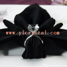 high quality colorful nice square paperweight crystal diamond napkin ring