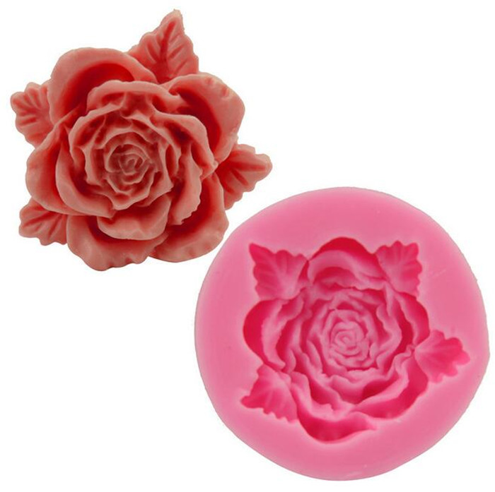 DIY sugar rose silicone molds flower
