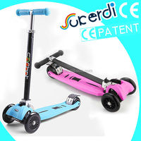 2014 Patent foldable 4 wheel trolley scooter