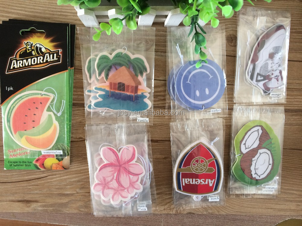 2016 cheapest CUSTOMIZED paper air fresher /freshener/freshner