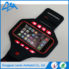 High quality LED outdoor sport running elastic armband;flash light case for iphone 5