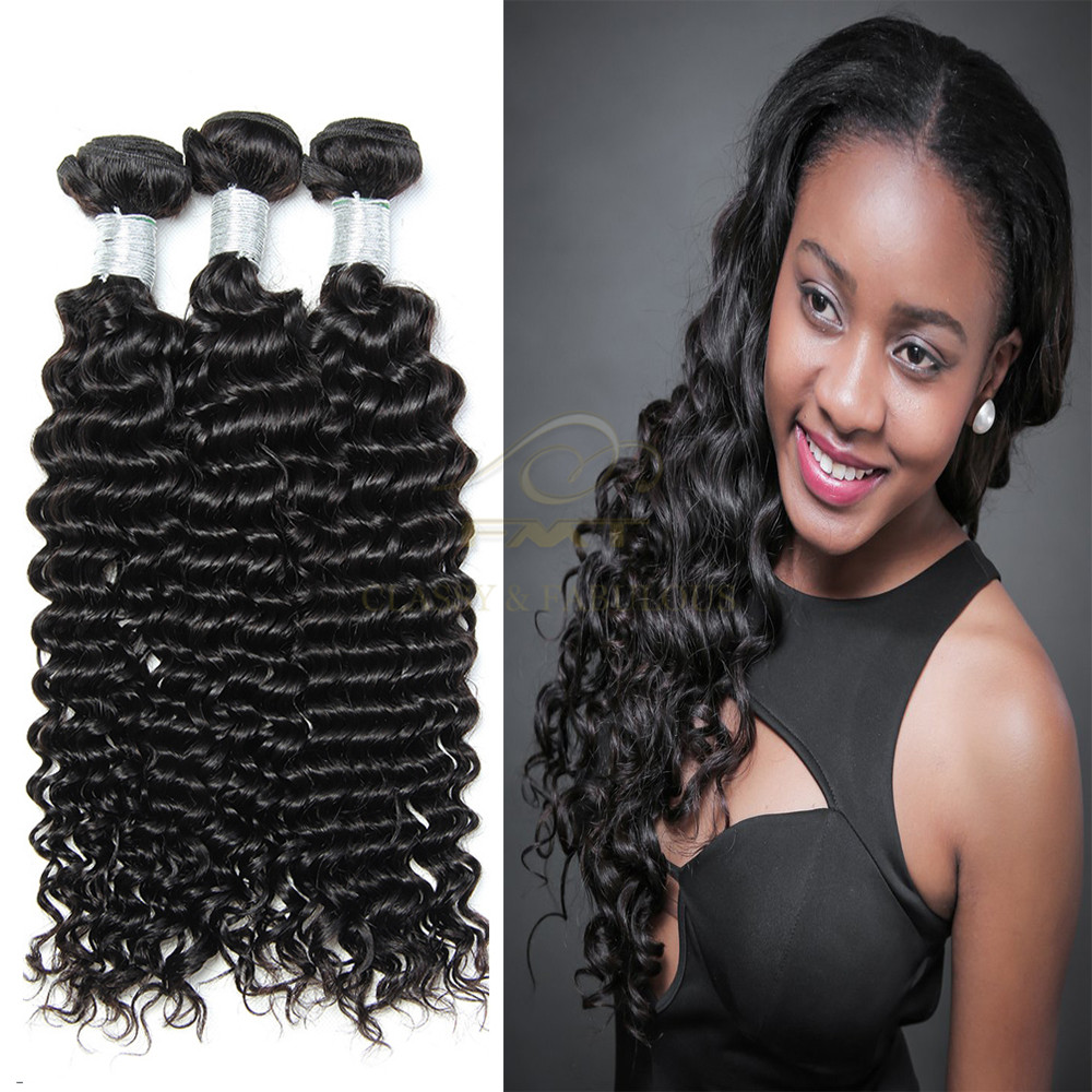 Brazilian 8a best quality one donor human hair full cuticle deep wave names of human hair