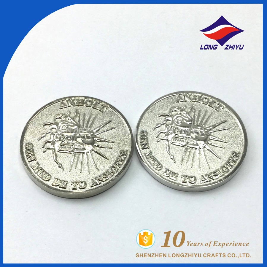 Longzhiyu wholesale coin high quality metal custom medallion coins supplies,metal coins maker in Shenzhen