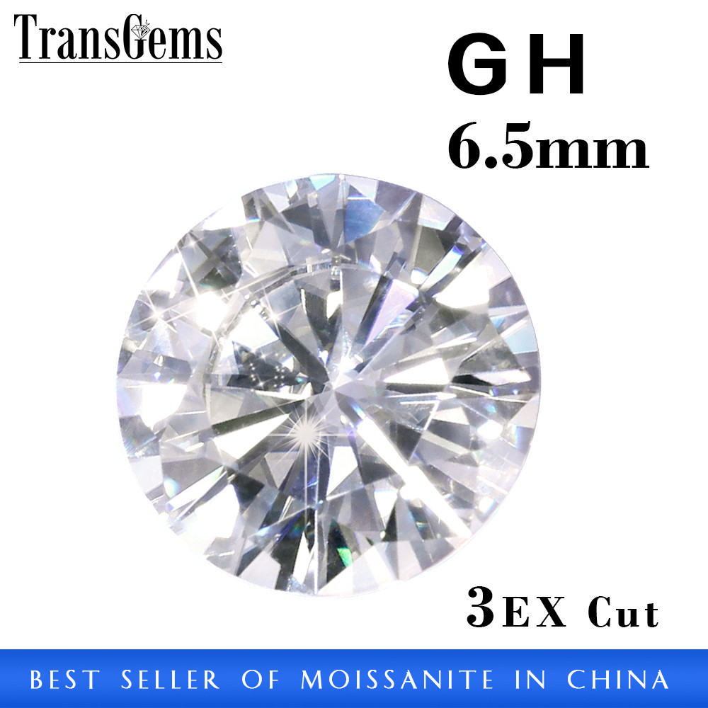 Round Shape Moissanite Diamonds 1 Carat 6.5mm in Supplier Wholesale Price